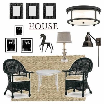 Black and White Sun Porch Makeover Plans