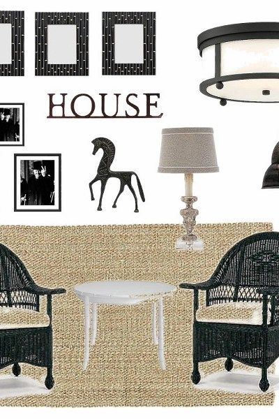 Black and White Sun Porch Idea Plans | StowandTellU