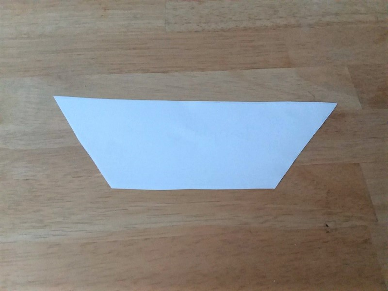 Tissue-paper-light-template | trapezoid paper template