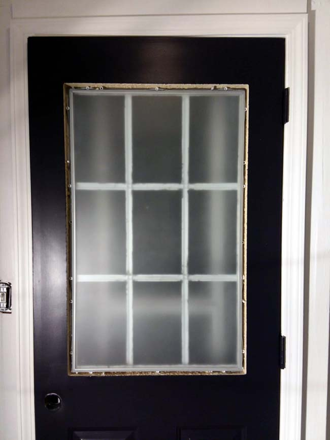 Frosted Glass Paint on Grid Door | 10 Steps for Painting Grid Doors and Frosting Glass Window Lites