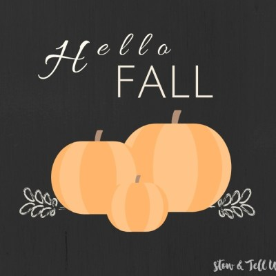 Free Hello Fall Pumpkin Printable