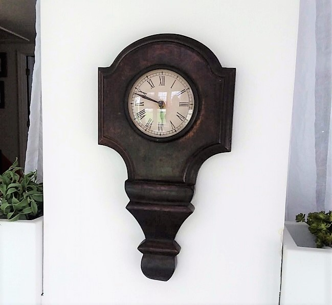 Gallery Wall Wood Clock in Sun Room