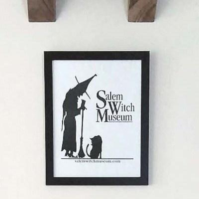 Salem Witch Souvenir Paper Bag Art