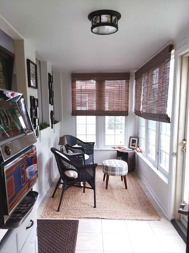Small Sun Room Sitting Area Makeover Reveal | stowandtellu.com