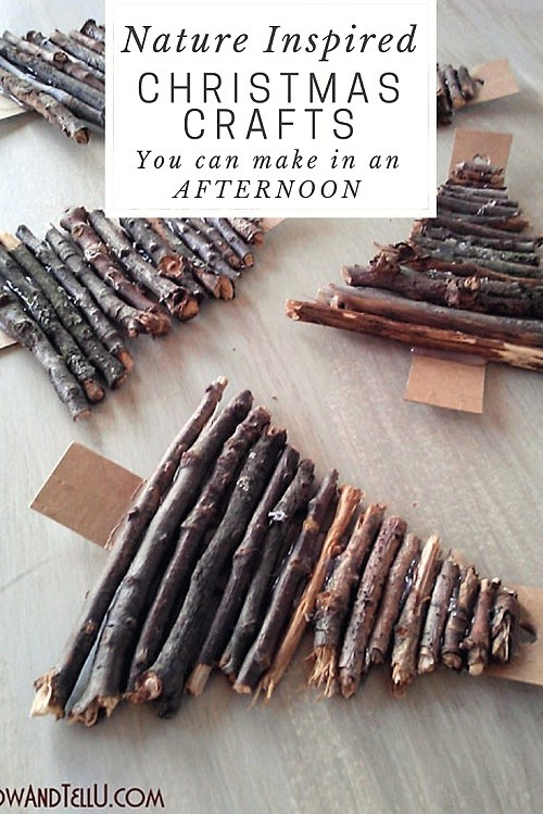 Rustic Nature Inspired Christmas Crafts