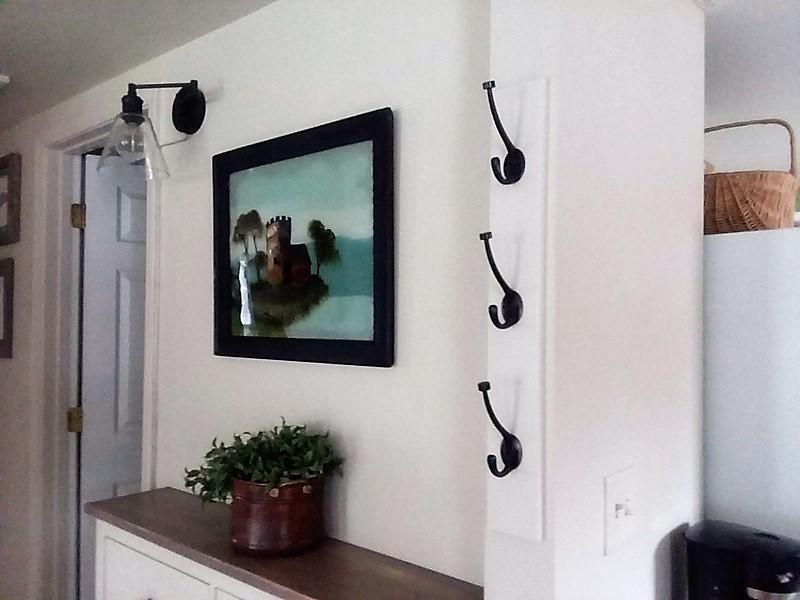 DIY Vertical Coat Rack with Hooks