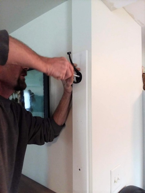Mounting Hooks on Vertical Wall Rack