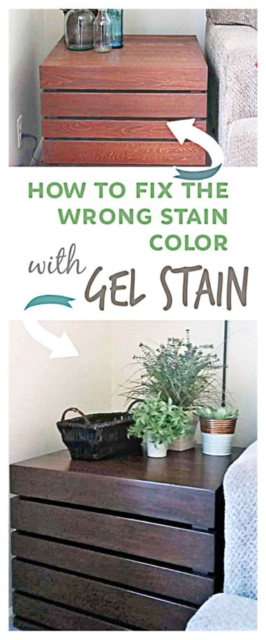How to Fix the Wrong or Bad Stain Color on Wood Furniture by Using Gel Stain