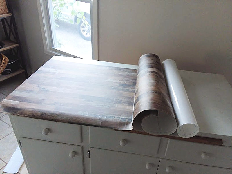 Putting Peel Stick Wallpaper on Counter Top
