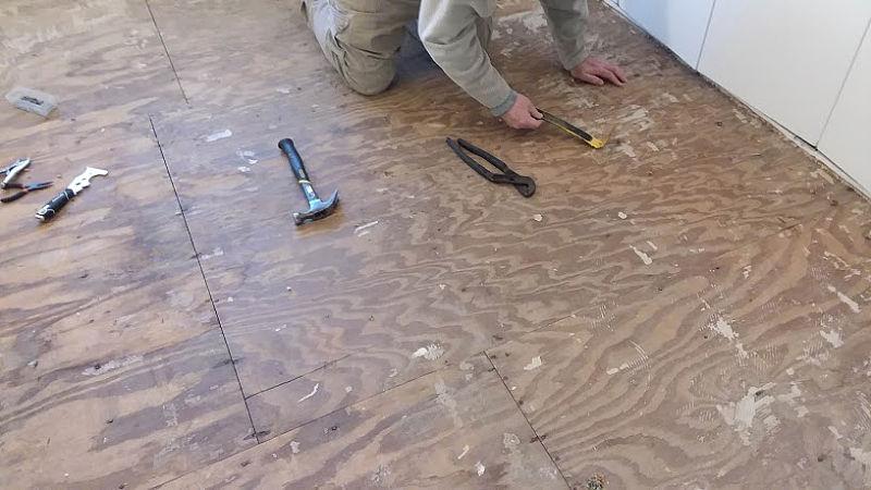 prep wood subfloor