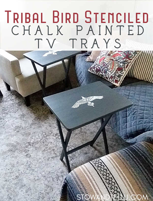 easy stenciled tv trays step by step