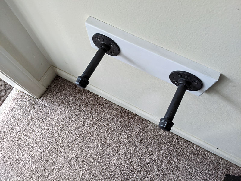 Black industrial pipe DIY Wall Mount TV Tray Holder