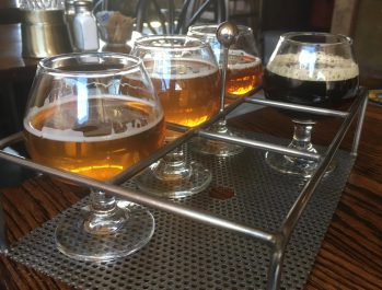 April 21, 2018 - Samples at Vermont Pub and Brewery in Burlington, Vermont