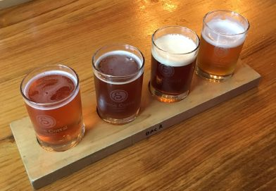 May 27, 2018 - Samples at Stone Corral Brewery in Richmond, Vermont