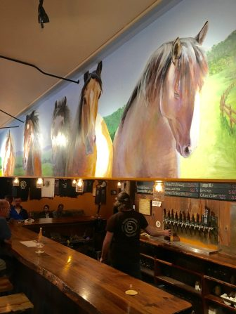 May 27, 2018 - The Bar at Stone Corral Brewery in Richmond, Vermont