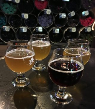May 27, 2018 - The samples at Magic Hat Brewing Company in Burlington, Vermont