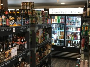 August 25, 2018 - Inside Stowe Public House and Bottle Shop in Stowe, Vermont