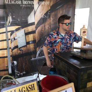 August 4, 2018 - Allagash Brewing Company at Stowe Brewers Festival in Stowe, Vermont