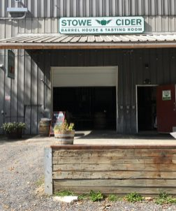 September 8, 2018 - Entrance at Stowe Cider in Stowe, Vermont