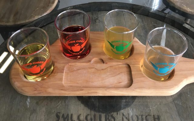 September 8, 2018 - Samples from Stowe Cider in Stowe, Vermont