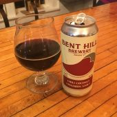 December 15, 2018 - Chili Coconut Cinnamon Stout from Bent Hill Brewery in Braintree, Vermont (picture taken at Stowe Public House in Stowe, Vermont)