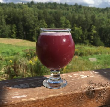 August 30, 2019 - Sample of Wildfower Meadows from Bent Hill Brewery in Braintree, Vermont