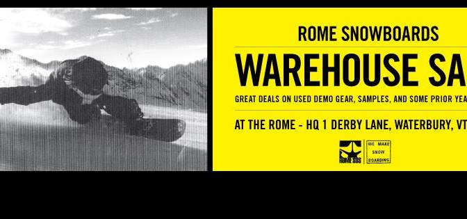 Rome Snowboards Tent Sale