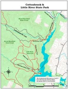 Nordic skiing map stowe vermont