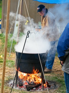 Making Apple Butter at the Harvest Festival