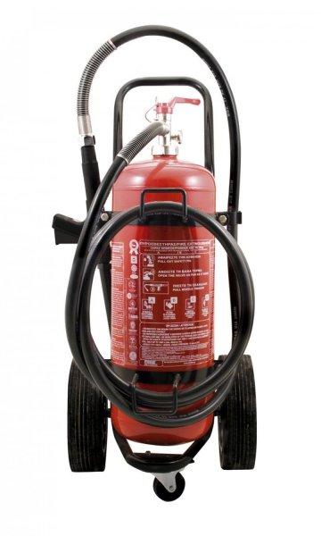 Πυροσβεστήρας ξηράς κόνεως 50Kg, τροχήλατος