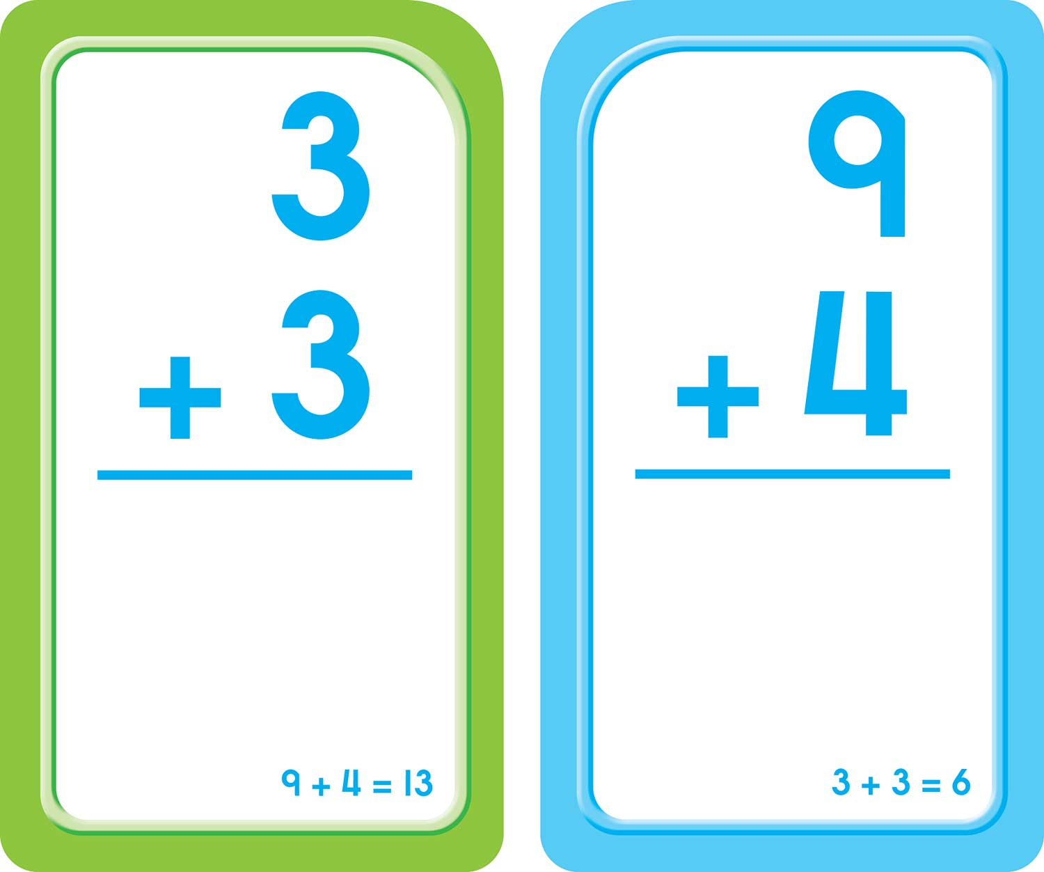 Printables Of Math Addition Flash Cards