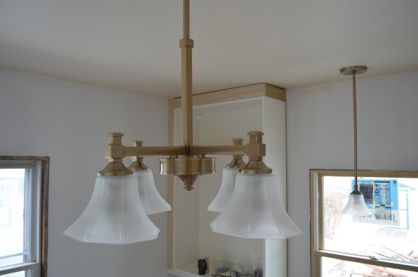 craftsman kitchen center light