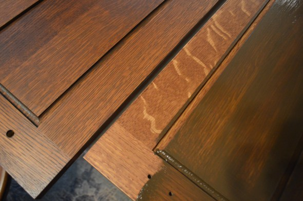 Apply gel stain on cabinets