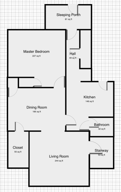 Craftsman style house floor plan