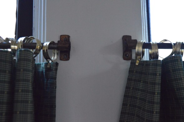 antique brass curtain rods