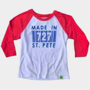 Kids Red Sleeves Made In 727 St. Pete