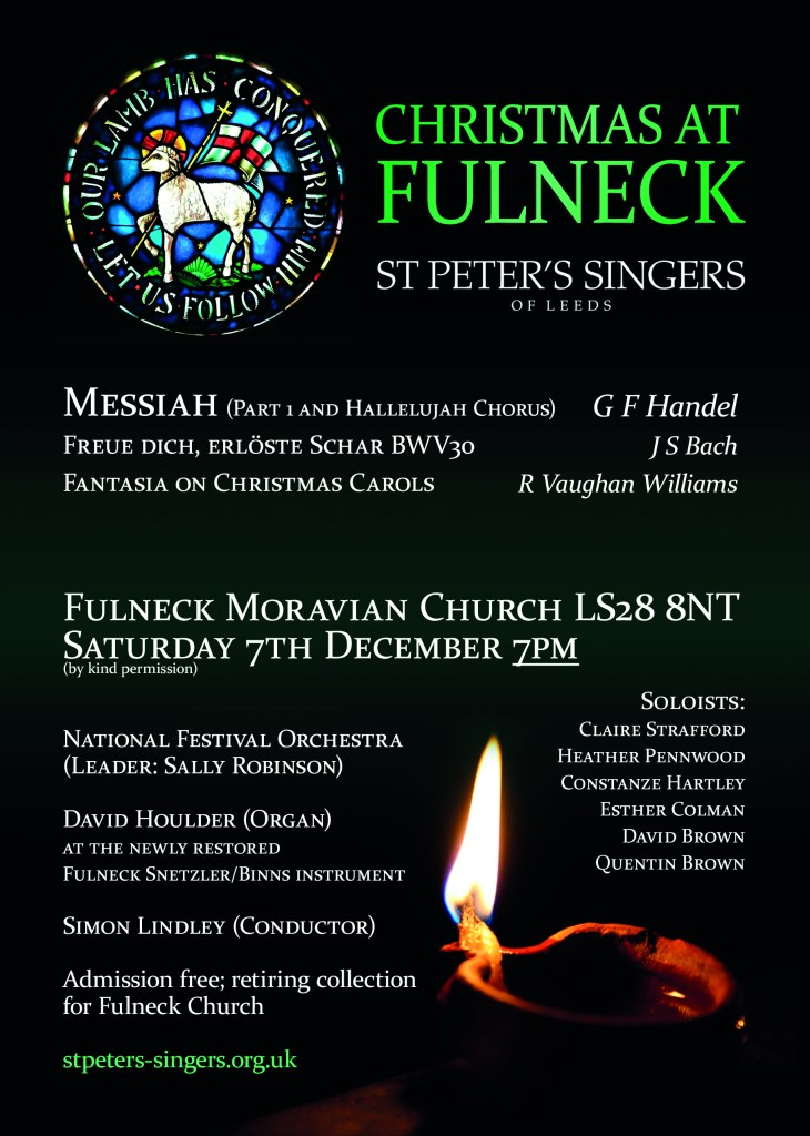 Fulneck Xmas 2019 730x1024 - Christmas music at Fulneck