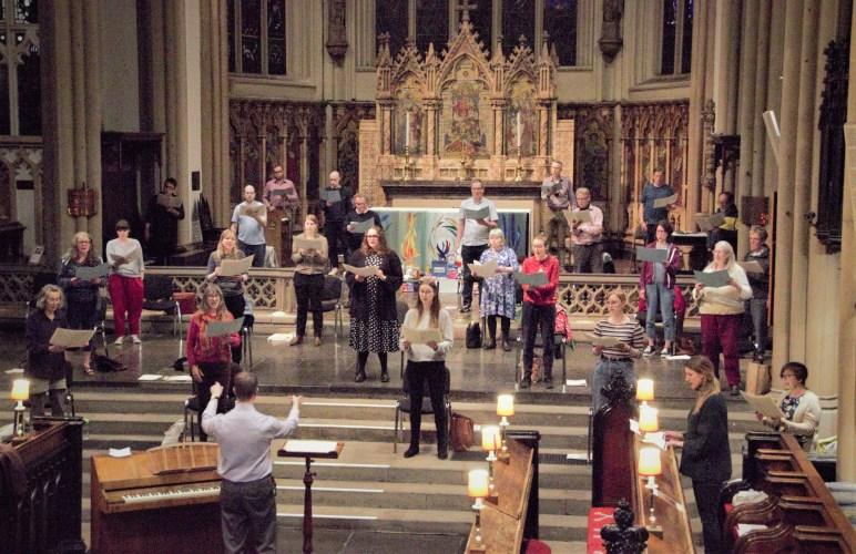 St Peter's Singers back together singing