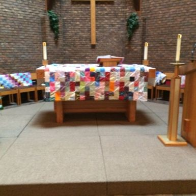LWR quilt on the altar