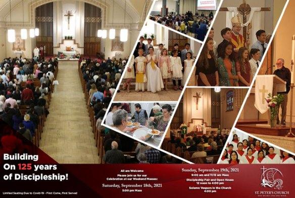 St. Peter's Church 125 anniversary celebration. September 18 & 19, 2021