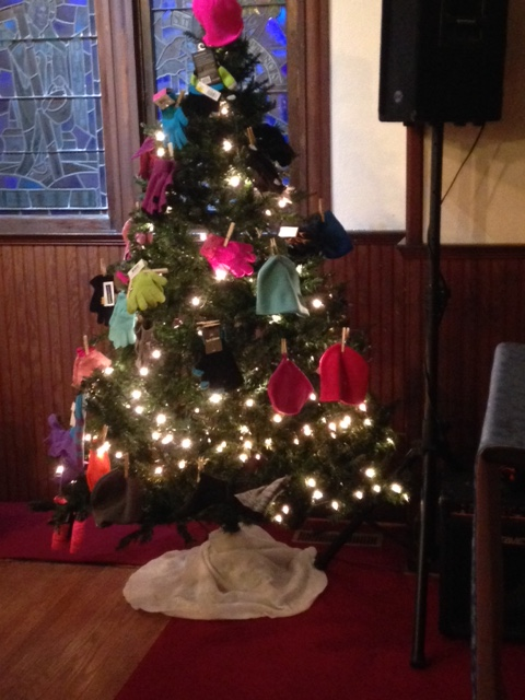 Each year at Christmas time mittens and hats are collected for local children who have none. We Care & We Share.