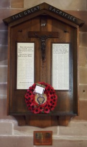 War memorial inside St Philip's