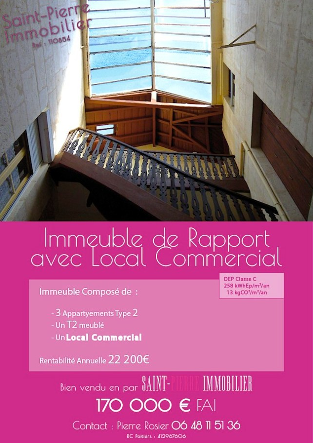 niort immeuble rapport local commercial st pierre immobilier