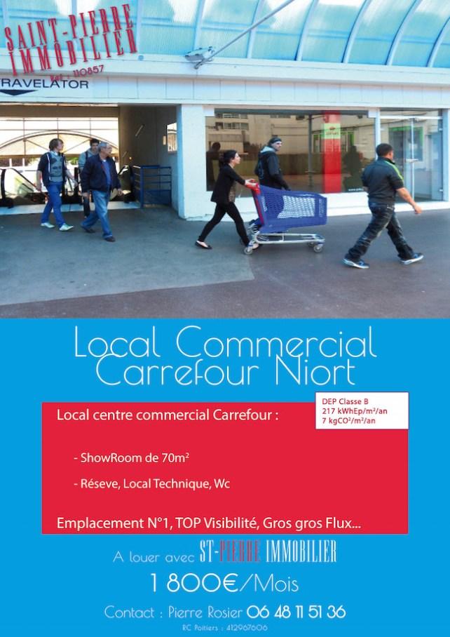 location local commercial emplacement numéro 1 carrefour niort