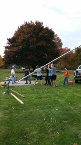 Raising the pole