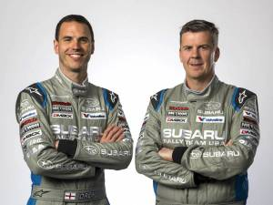 Craig Drew (left) and David Higgins of Subaru Rally Team USA