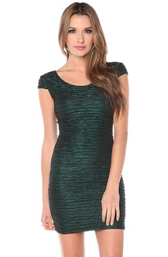 Motel - The Elsa Cap Sleeve Dress in Emerald (US$61)