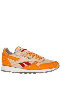Reebok - The Reebok x Gary Warnett Classic Leather Sneaker in Bone, Nacho, & Stadium Red (US$135)
