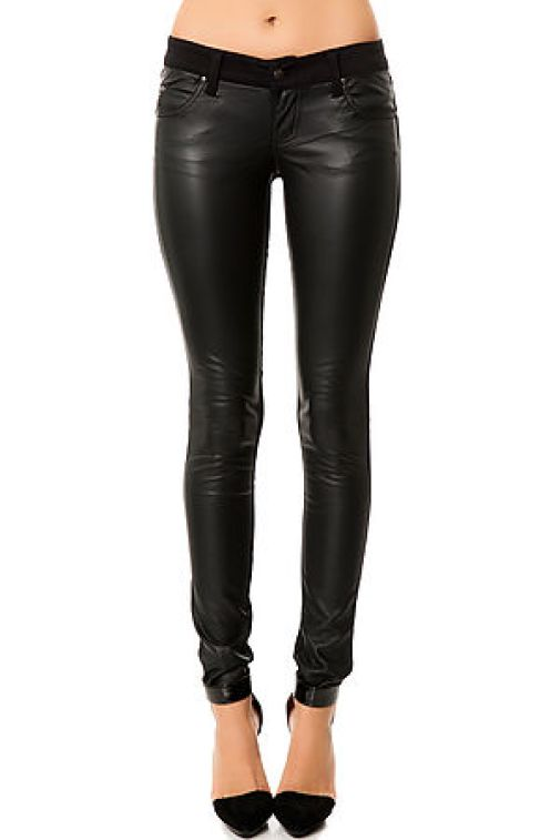 Tripp NYC - The Faux Leather Fronted Pant (US$66)