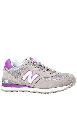 New Balance - The 574 Classic Sneaker in Grey Suede and Purple (US$69)